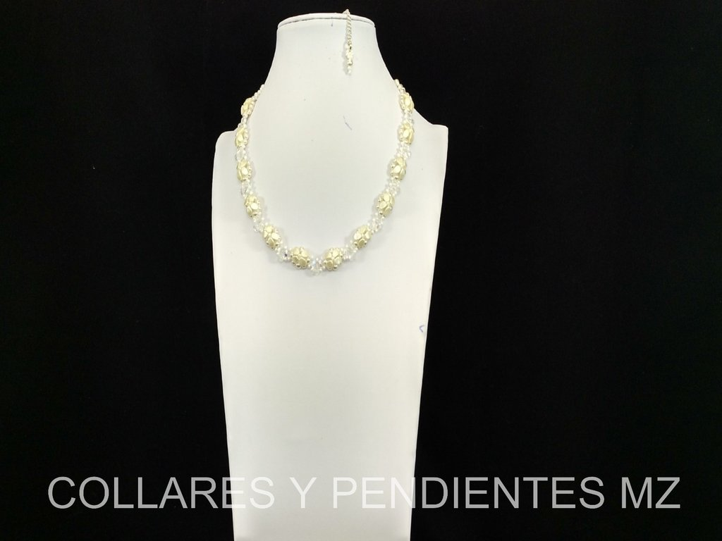 COLLAR PARA NOVIA PINCH BEADS ARTESANAL